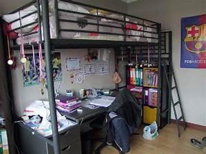 Lit 1 Place Mezzanine : lit mezzanine place noir offres septembre clasf ~ Melissatoandfro.com Idées de Décoration