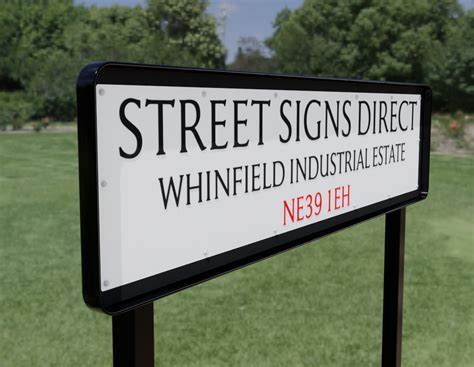 Die Pressed Street Sign - Post Mounted (Angle Frame, Box ...