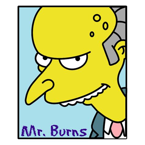 Simpsons mr burns (42098) Free EPS, SVG Download / 4 Vector