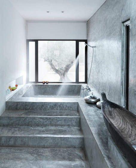 cement tub concrete bathtub we love concrete pinterest martin o malley vanities and large bathtubs