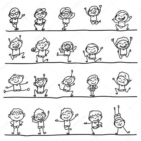 disegni di bambini stilizzati disegno bambini stilizzati para colorear