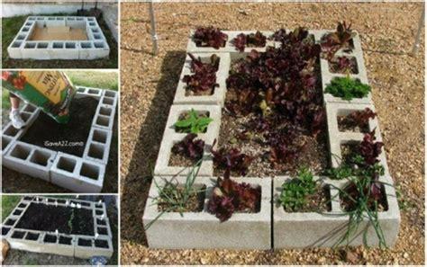 how to diy cinder block raised garden bed www