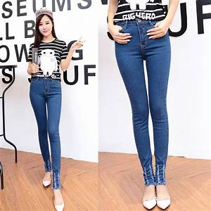 Free shipping 2015 autumn new women jeans Slim models skinny jeans female feet was thin pencil ...