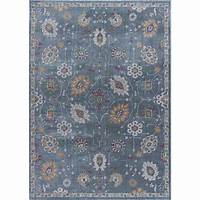 home depot rugs Tayse Rugs Aria Gray 5 ft. 3 in. x 7 ft. 3 in. Area Rug ...