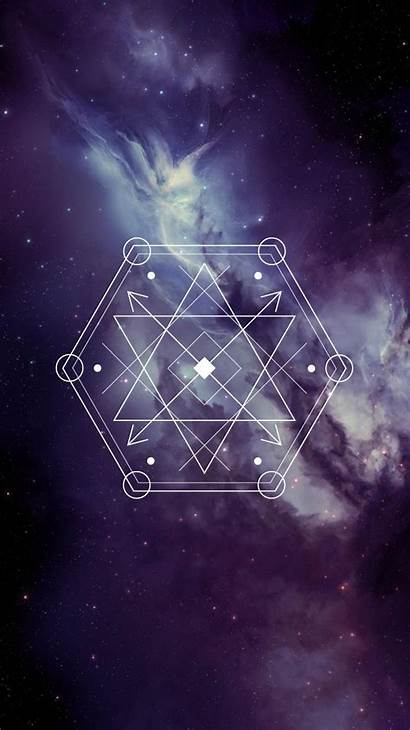 Iphone Backgrounds Sacred Geometry Dark Triangle Galaxy