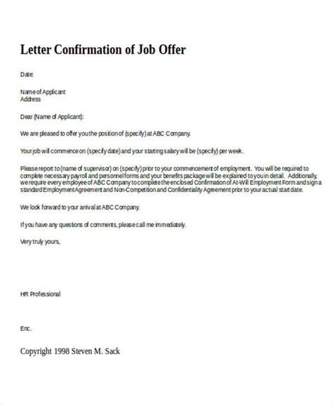letter confirming employment 15 confirmation letter templates pdf doc free