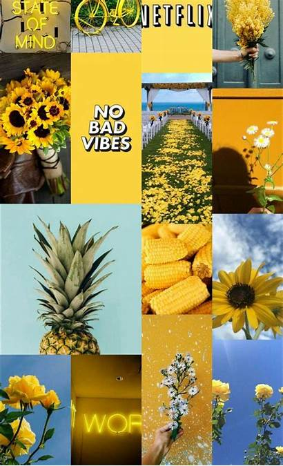 Aesthetic Yellow Wallpapers Pastel Laptop Backgrounds Collage
