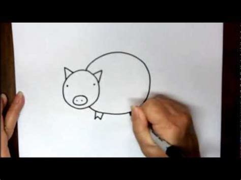 draw  pig step  step easy cartoon drawing