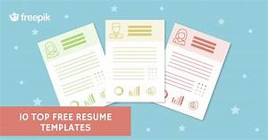 10 Top Free Resume Templates - Freepik Blog
