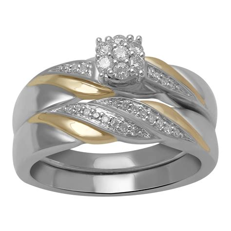 eternal treasures 1 5 cttw sterling silver two tone