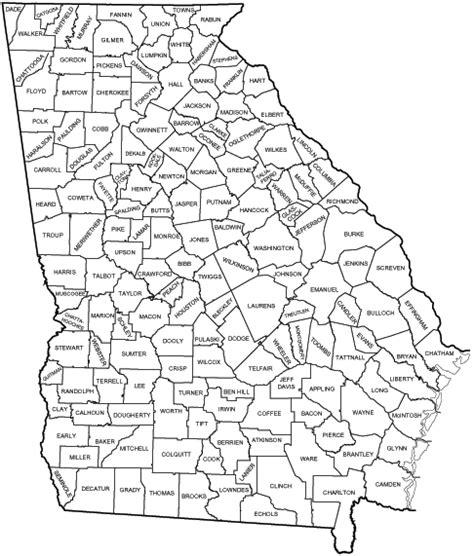 georgia counties ga usa county list