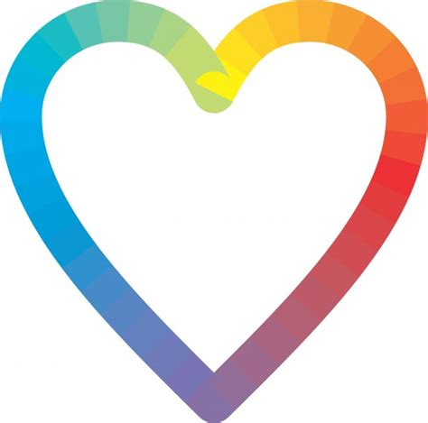 Rainbow Heart Free Stock Photo - Public Domain Pictures