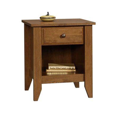 Open Nightstand by 1 Drawer Nightstand With Open Shelf In Oak Finish