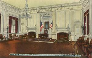 """East Room """"Declaration Chamber,"""" Independence Hall ..."""