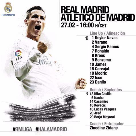real madrid v atl 233 tico madrid la liga as it happened football the guardian