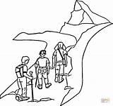 Coloring Hiking Mountain Camp Colorat Munte Printable Forest Vara Malvorlage Wanderschuh Escalando Peisaje Planse Plansa Rutas Sheets Supercoloring Camping Forni sketch template
