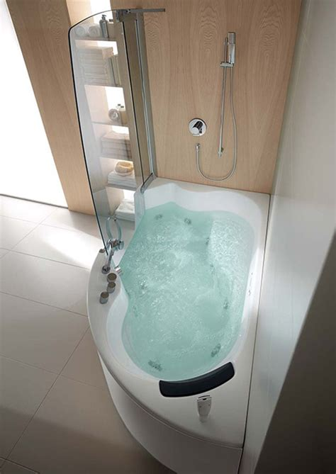 Small Whirlpool Bath by Teuco Corner Whirlpool Shower Integrates Shower With