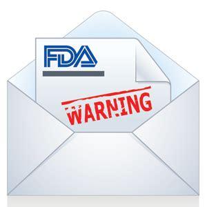 fda warning letters fda hits drugmaker with warning letter