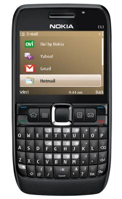 nokia e63 mobile phone detail