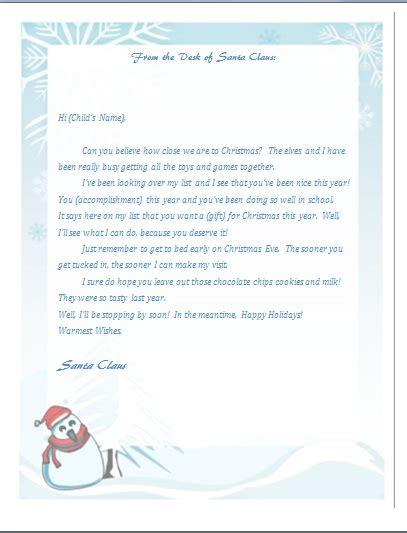 printable letter  santa