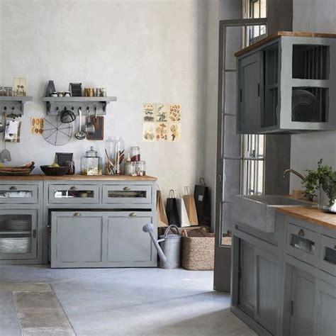 cuisine rustique grise cuisine grise un air de cagne chic cuisine