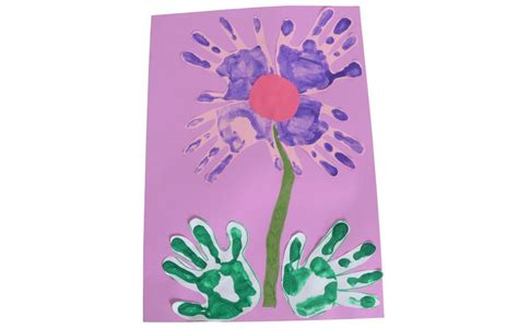 spring hand  finger print ideas early years inspiration