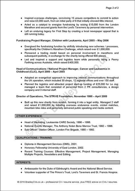 Cvs And Resumes Exles by Exle Cvs Resumes A Before And After Study By