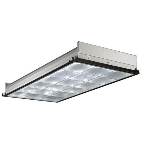 lithonia lighting 4 ft 3 light fluorescent silver