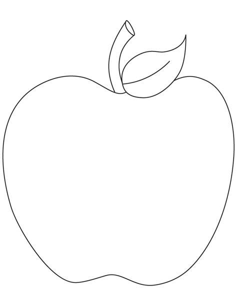 apple template free 14 apple fruit coloring sheet