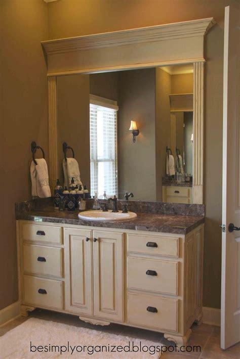 mirror ideas for bathrooms way to frame a bathroom mirror bathroom ideas