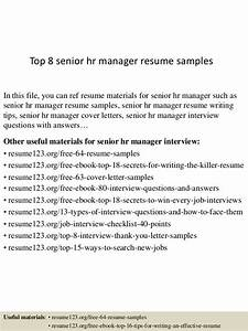 top 8 senior hr manager resume samples With senior hr manager resume sample