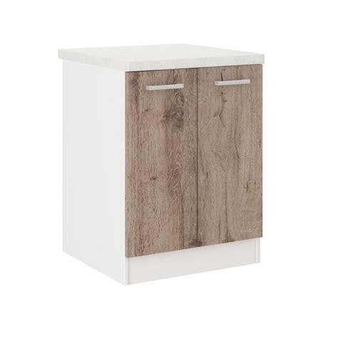 but meuble de cuisine bas ultra meuble bas de cuisine l 60 cm avec plan de travail