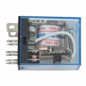 20x Ac24v Coil Voltage Power Relay With 35mm Din Guide