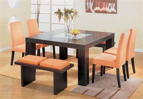 square dining table design   home decor