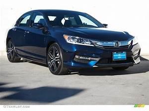 2017 Obsidian Blue Pearl Honda Accord LX Sedan #114899437 ...