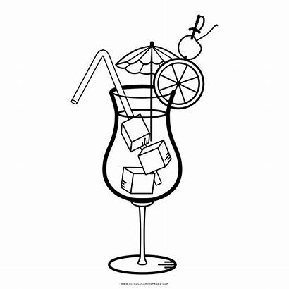 Cocktail Ausmalbilder Colorare Dessin Coloring Daiquiri Drinks