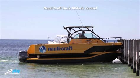Catamaran Boat Suspension by Nauti Craft S Boat Has Hydraulic Suspension For A Smoother