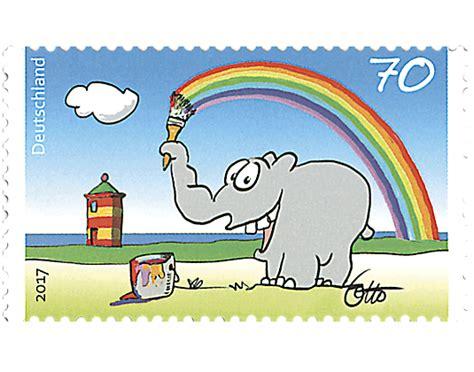 70 cent briefmarke briefmarke quot otto waalkes bunter gru 223 vom ottifant quot borek de