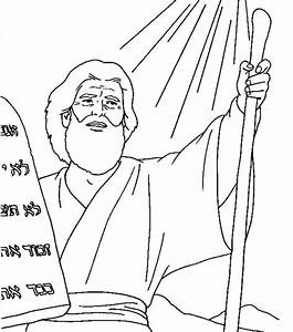 Free coloring pages of moses ten commandments
