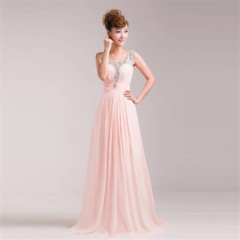 light blush pink dress 2015 cheap chiffon red royal blue pink blush light blue