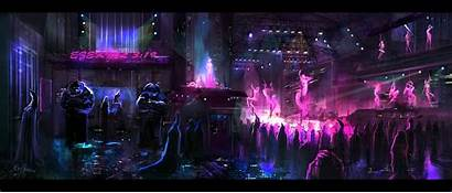Club Sci Fi Night Cyberpunk Futuristic Nightclub