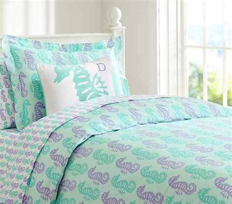 lavender cover for pottery barn preppy seahorse duvet cover pottery barn