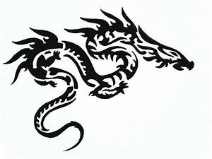 Black And White Dragon Tattoo - ClipArt Best