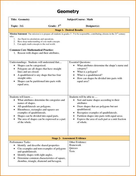 ubd lesson plan template shatterlioninfo