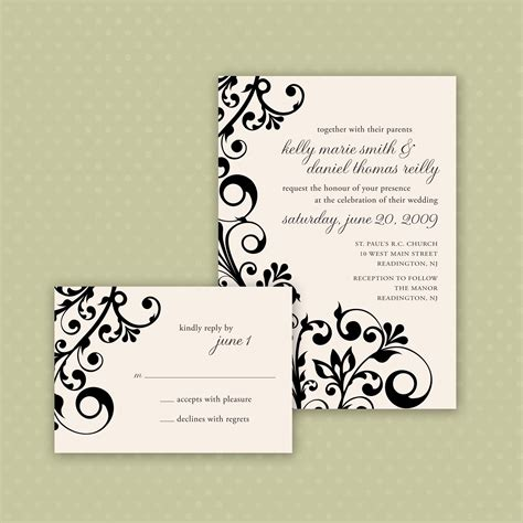 printable invitations are available in any color