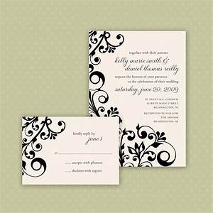 Printable invitations are available in any color for Wedding invitations blue or black ink
