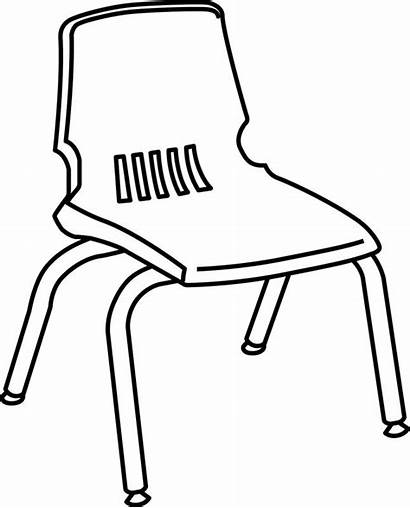 Chair Clipart Line Outline Chairs Clip Drawing