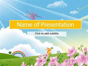 animated sun animated child39s template for presentation With fairy tale powerpoint template free download