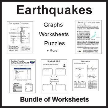 earthquake worksheet packet by dr dave s science tpt