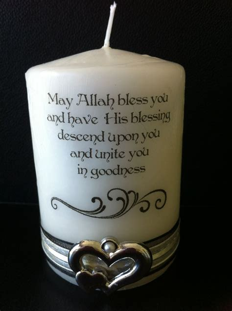 nikah candle muslim wedding personalised candles